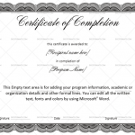 Completion Certificate Template (Laced, Editable Certificate)
