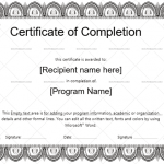 Completion Certificate Template (Pencil, Printable Blank Certificate)