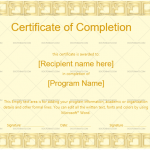 Completion Certificate Template (Skin, Work completion certificate)