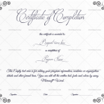 Completion Certificate Template (Spiral, Certificate of training completion)
