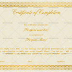 Completion Certificate Template (Stars, Course completion certificate)