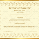 Excellence Certificate Template (Bronze, Customize in Word)