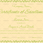 Excellence Certificate Template (Peach, Printable Blank Excellence Certificate)
