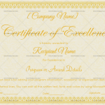 Excellence Certificate Template (Vintage, Printable Certificate of Excellence)
