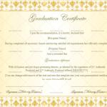 Graduation Certificate Template (Floral, Blank Design)Graduation Certificate Template (Floral, Blank Design)