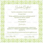 Graduation Certificate Template (Green, Printable and Editable)