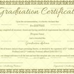 Graduation Certificate Template (Jade Green, Customize in Word)