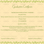 Graduation Certificate Template (Peach, Printable in Word)