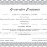 Graduation Certificate Template (Silver, Blank Design)