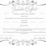 Graduation Certificate Template (White, Printable Blank Graduation Certificate)