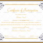 Participation Certificate Template (Elegant, Blank Design)