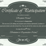 Participation Certificate Template (Grey, Printable Certificate of Excellence)