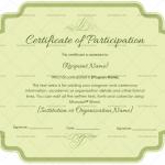 Participation Certificate Template (Jade Green, Editable Certificate)
