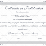 Participation Certificate Template (Lavender, Customize in Word)