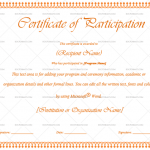 Participation Certificate Template (Rusty, Printable in Word)
