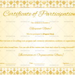 Participation CertificateTemplate (Floral, Fillable Template)