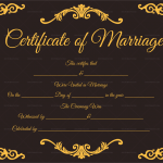 Traditional-Corner-Marriage-Certificate-Template-Black