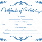 Traditional-Corner-Marriage-Certificate-Template-Blue