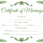 Traditional-Corner-Marriage-Certificate-Template-Green