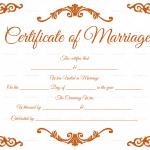 Traditional-Corner-Marriage-Certificate-Template-Orange