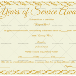 Years of Service Award Certificate Template (Autumn, Printable and Editable)
