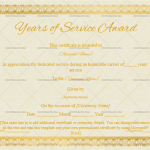 Years of Service Award Certificate Template (Stars, Printable Years of Service Award)