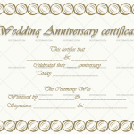 Wedding Anniversary Certificates (Hazel, Design Template in Word)