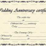 Wedding Anniversary Certificates (Vintage, Editable Template in Word)