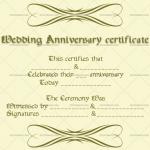 Wedding Anniversary Certificates (Simple, Customizable Template)