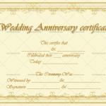 Wedding Anniversary Certificates (Classic, Blank Template)