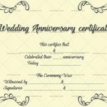 Wedding Anniversary Certificates (Modern, Customisable Template)
