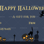 Halloween Gift Certificate (Scream, Printable Gift Voucher)