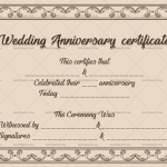 Wedding Anniversary Certificates (Frame, Editable Template in Word)