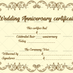Wedding Anniversary Certificates (Decorous, Editable Template)