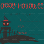 Halloween Gift Certificate (Spooky, Fillable Gift Voucher)