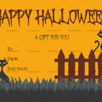 Halloween Gift Certificate (October, Customize in Word)