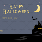 Halloween Gift Certificate (Night Chilling, Printable Gift Voucher)