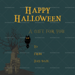 Halloween Gift Certificate (Dark, Printable and Editable)