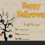 Halloween Gift Certificate (Ghastly, Printable Gift Voucher)