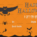 Halloween Gift Certificate (Beast, Customize in Word)