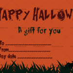 Halloween Gift Certificate (Cemetery, Printable Gift Voucher)