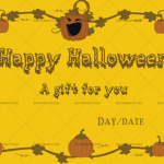 Halloween Gift Certificate (Petrify, Printable Gift Voucher)