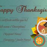 Thanksgiving Gift Certificate Template (Elegant, Blank Template)