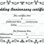 Wedding Anniversary Certificates (Sky, Editable Template)