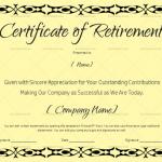 Certificate of Retirement (#927) – Black (in Word)