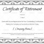 Certificate of Retirement (#928) Black in Word