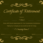 Certificate of Retirement – Green Design (#925)