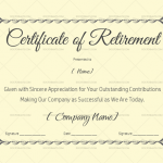 Certificate of Retirement Template (Blue) (#925)