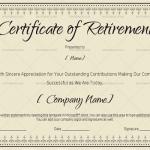 Certificate of Retirement Template (Khaki, #931)