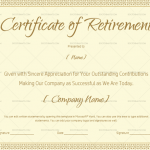 Certificate of Retirement Template (Sample in Word) (#924)